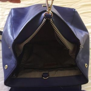Nine West blue leather backpack